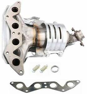 New Exhaust Manifold W Catalytic Converter Header For 01 05 Honda Civic 1 7l
