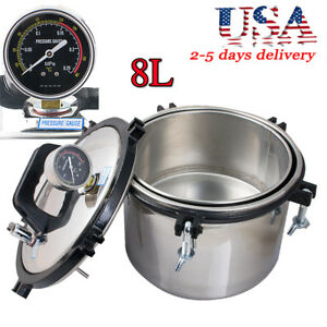 8l Dental Medical High pressure Saturated Steam Sterilizer Dual Heating System