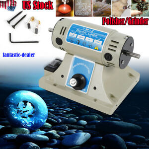 Mini Bench Lathe Polishing Buffing Machine Buffer Polisher Grinder Electric