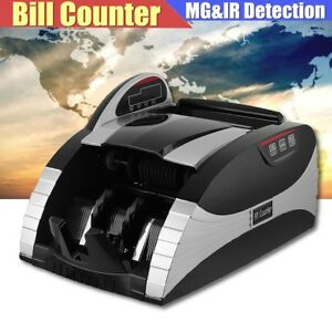 Lcd Money Bill Currency Detection Cash Counter Counting Uv Mg Machine Us eu