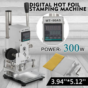 10 13cm Digital Leather Stamper Embossing Machine Hot Foil Stamping Machine 110v