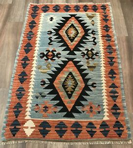 Turkish Vintage Old Kilim Rug Kelim Carpet From Sivas Bohemian 2 7 X3 9 Foot