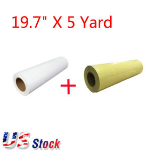 19 7 X 5 Yard Eco solvent Heat Transfer Vinyl And Application Tape Usa Stock