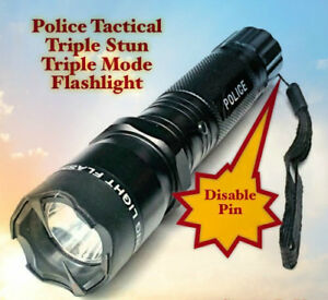 6 Pack Wholesale Police Style Stun Gun W Disable Pin 990 Mv 4 5 Ma Led Light
