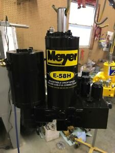 Meyer Snow Plow E58 E58 H Hydraulic Plow Pump Sand Blasted Complete Rebuild