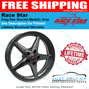 Race Star 92 Drag Star Grey 17x9 5 5x115bc 6 125bs 92 795452g Challenger Charger