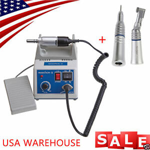 Dental Marathon 35k Rpm Electric Micromotor Contra Straight Handpiece Burs Drill