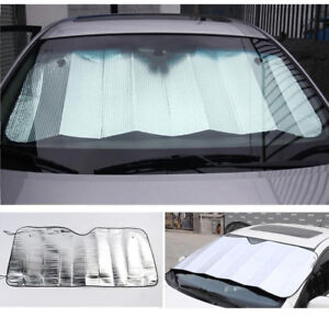 Car Front Window Sun Shade Cover Protector Folding Windshield Visor 128 60cm