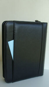 Classic 1 5 Ring Blk Leather Franklin Covey Planner binder Zip Front pocket Usa