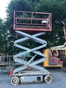 2004 Skyjack Sj3220 20 Electric Scissor Lift Man Aerial Platform Extension