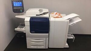 Xerox Color 560 With Booklet Maker Bustle Fiery And Low Meter 184k