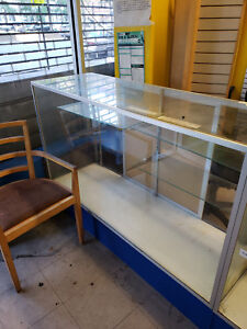 Glass Display Cases Used