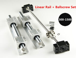 Sbr16 Linear Rail L300 1500mm Set Sfu1204 Blallscrew Kit For Cnc Diy
