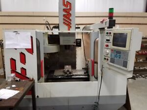 Used Haas Vf 2 Cnc Vertical Machining Center Mill Ct40 30x16 Rigid Tap 4th 1996