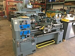 16 X 40 Sharp Engine Lathe Gap Bed W 3 4 jaw Chucks Threading Tooling