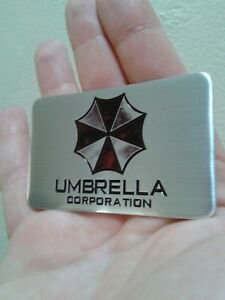 Metal Resident Evil Umbrella Corporation Car Auto Trunk Badge Emblem Smoke