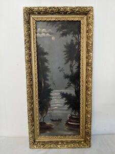 Beautiful Antique Victorian Gesso Gilt Ornate Large Picture Frame 28 By 13