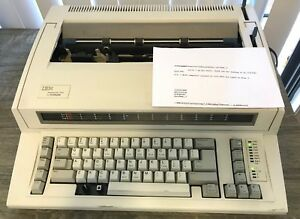 Ibm Wheelwriter 1000 By Lexmark Works Great