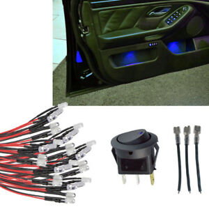 20pcs Blue Led Interior Led Glow Accent Kit Switch For Silverado Gmc Trucks