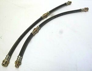 Mazda Rx3 808 323 Front Brake Flexi Lines Hoses With Mounting Clips Pair 2pcs