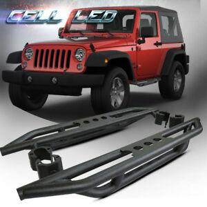 For 2007 2017 Jeep Wrangler Jk 2dr Side Steps Running Boards Armor Rock Slider