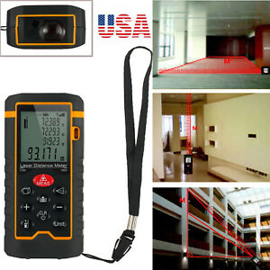 100m Digital Lcd Laser Distance Meter Range Finder Measure Handheld Gauge Tool