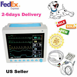 Vet Pet Veterinary Icu Monitoring Multiparameter Vital Signs Patient Monitor new