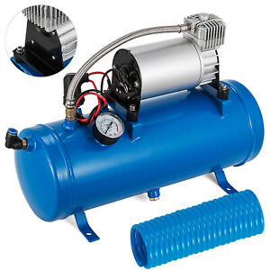 Air Compressor With 6 Liter Tank 120 Psi Dc 12v For Train Horns Truck Rv Pickup