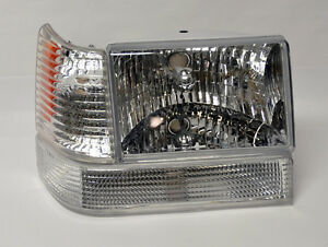 Clear Front Headlights Bumper Corner Lights Fits Jeep Grand Cherokee 93 98