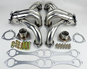 Chevy Gmc 5 0l 5 7l 305 350 V8 Small Block Hugger Stainless Steel Headers Truck