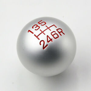 Jdm Round 6 Speed Brushed Aluminum Gear Shift Knob For Honda Acura Mt Manual