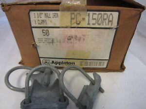Case Of 50 Appleton Right Angle Clamps 1 1 2 Pc150ra Ubc150g Rac150 Hdg