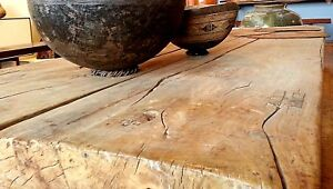 Antique Chinese Daybed Platform Table Late 18thc Solid Elm Shaanxi Province