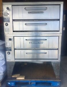 Bakers Pride 151 152 Double Stack Deck Pizza Ovens Natural Gas great Condition