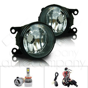 For 2014 Ram Promaster Fog Lights W wiring Kit C6 Led Bulbs Clear