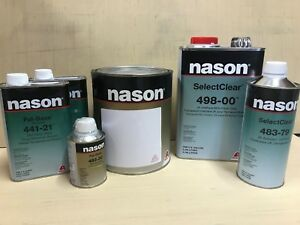 Gm Black 8555 Basecoat Kit With Clearcoat Kit