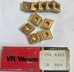 Vr wesson Fansteel Carbide Inserts Cnmg 432e 663 Qty 10 New