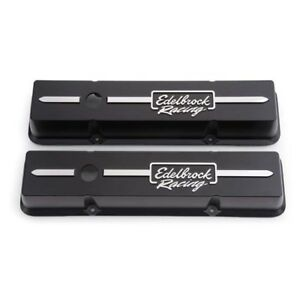 Edelbrock 41633 Racing Series Valve Cover Set Small Block Chevy
