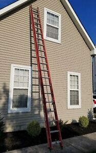 Werner 40 Ft Fiberglass Extension Ladder Pick Up Only New Jersey