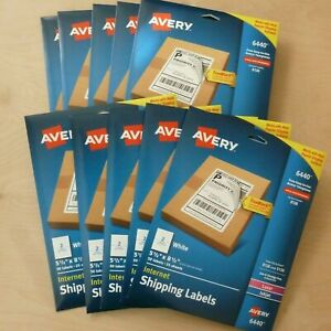 500 Lot Avery White Shipping Labels With Paper Receipts 5 1 16 X 7 5 8 27901