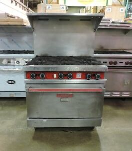 Vulcan 36c Commercial 6 Burner Gas Range W Convection Oven