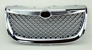 Chrome Honeycomb Mesh Front Bumper Hood Grill Fits Chrysler 300m 99 04
