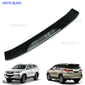 16 17 Black Rear Bumper Guard Protect Cover For Toyota Fortuner E4 Sigma Suv 4x4