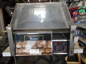Star Grill Max 45scbd Commercial 45 Hot Dog Roller W Bun Warmer