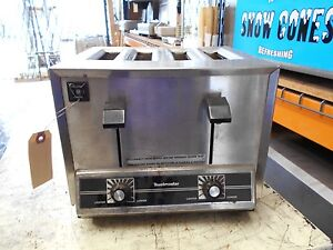 Toastmaster Tp 44 Stainless Steel Commercial 4 Slice Toaster
