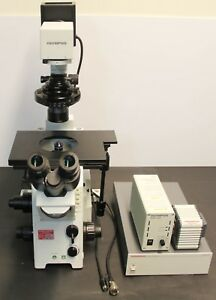 Olympus Ix71 Inverted Microscope Hammamatsu Orca er C4742 80 Camera 5834