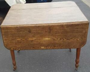 Antique Drop Leaf Kitchen Table Great Working Condition Very Usable Table