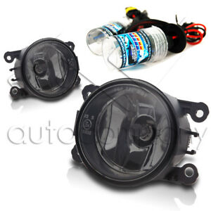 For 2013 2014 Ford Fusion Replacement Fog Lights W hid Kit Smoke