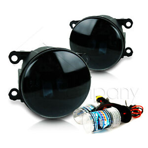 For 2006 2008 Mitsubishi Endeavor Replacement Fog Lights W hid Kit Super Smoke