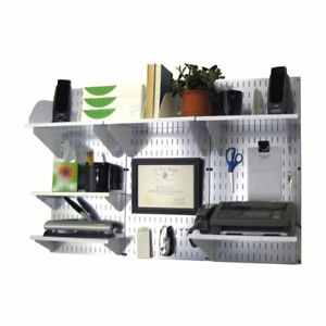 Wall Control Office Wall Mount Desk Storage And Organization Kit Galvanized
